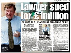 Lawyer sued for 1 million Sunday Mail June 3 2007