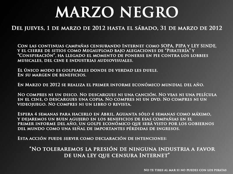 Marzo Negro