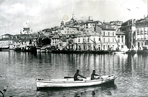 The city of Šibenik back in early 1900s