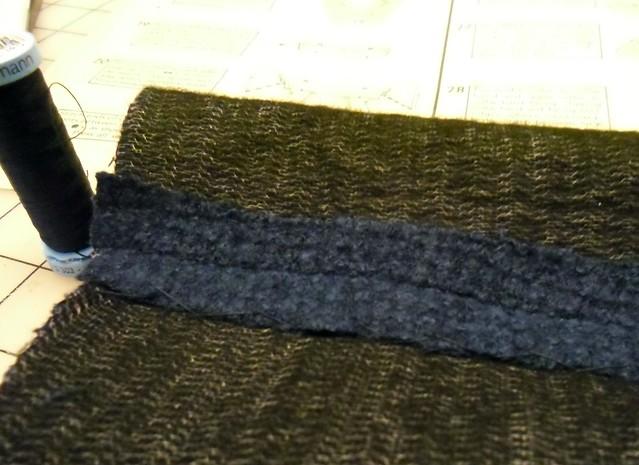catch-stitch at the seams