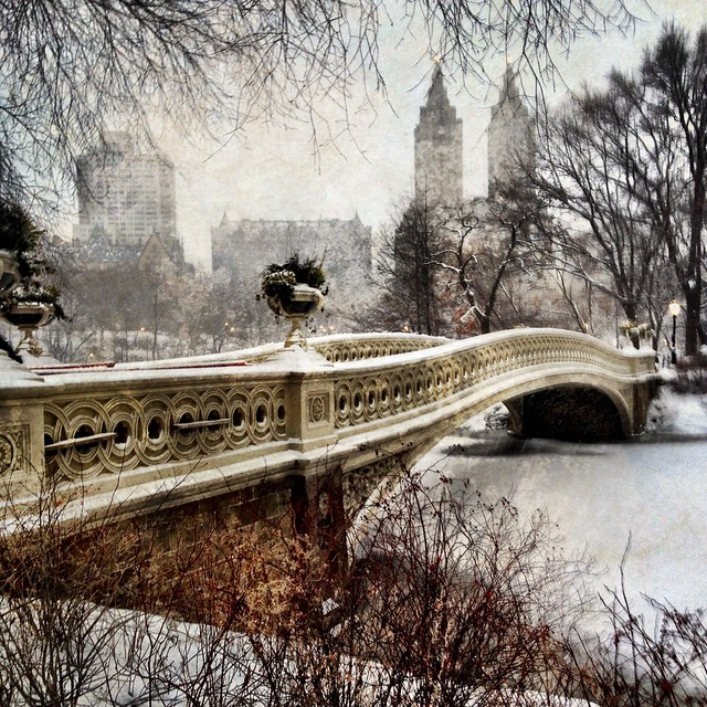 Snowy Bow Bridge