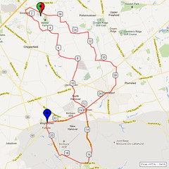 15. Bike Route Map. Hamilton Area YMCA, Crosswicks, NJ