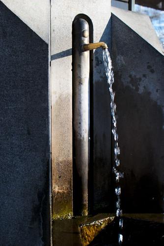 Wasserspender der artesischen Quelle am Albertplatz