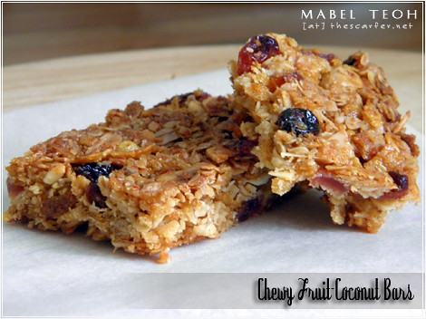 Chewy Fruit-Coconut Bars
