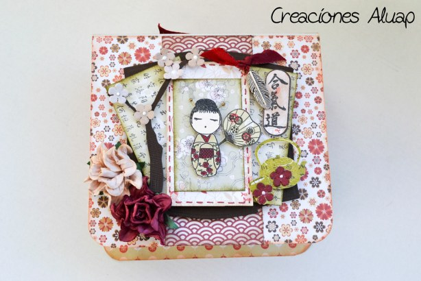 caja kokeshi origami - box