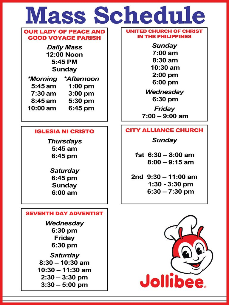 Guide to Mass Schedules of GenSan's Downtown Churches