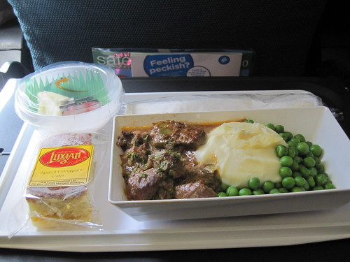 Air New Zealand flight meal