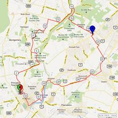 06. Bike Route Map. Princeton NJ
