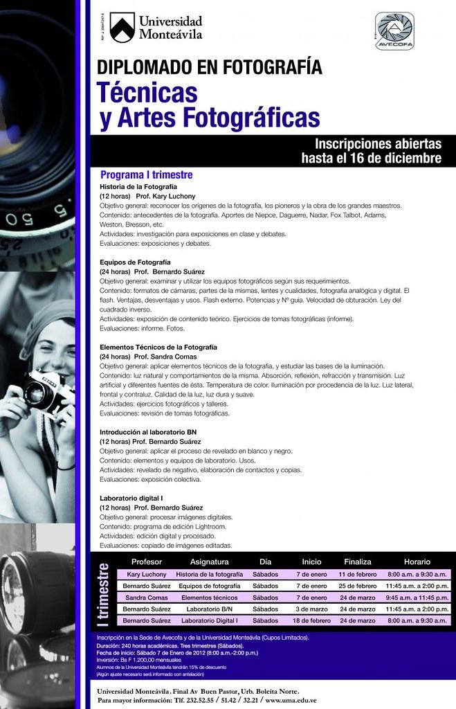 Diplomado en Fotografía: Técnicas y Artes fotográficas