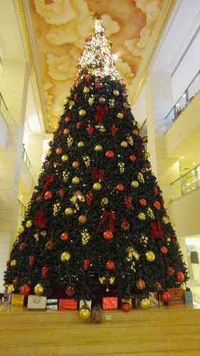 Christmas tree at Leela Galleria