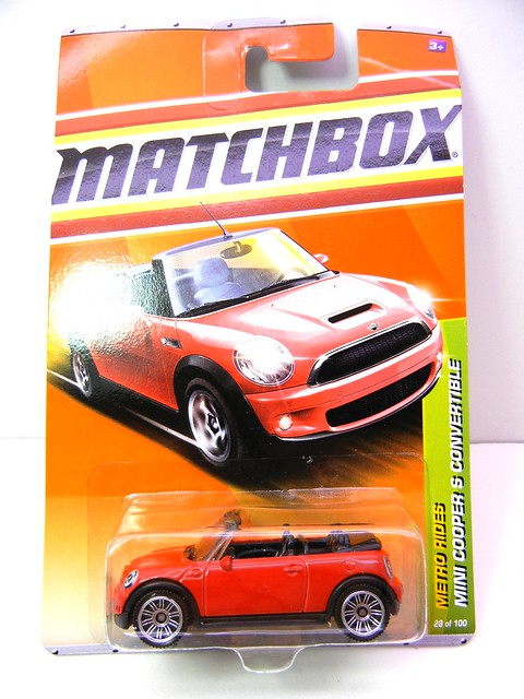 MATCHBOX MINI COOPER S CONVERTIBLE RED (1)