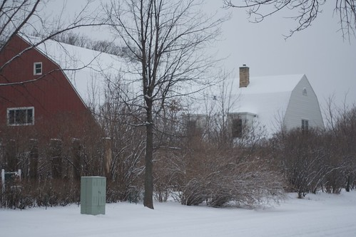 The Barn in Snow
