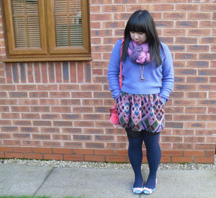 pink and purple outfit