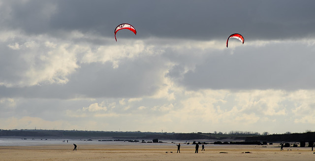 Kites at South Beach, Bridlington, East Yorkshire