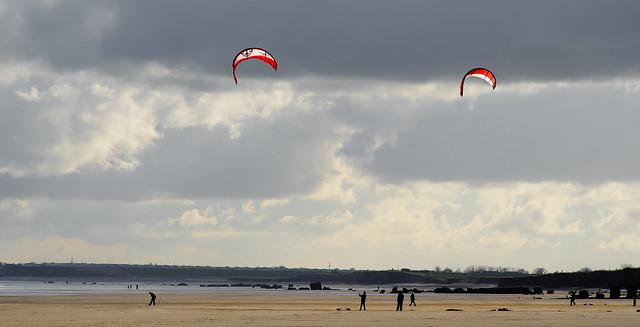 Kites at South Beach, Bridlington, East Yorkshire