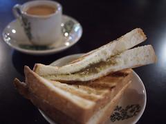 Kaya toast and tea, Malaysian Food Street, Resorts World Sentosa