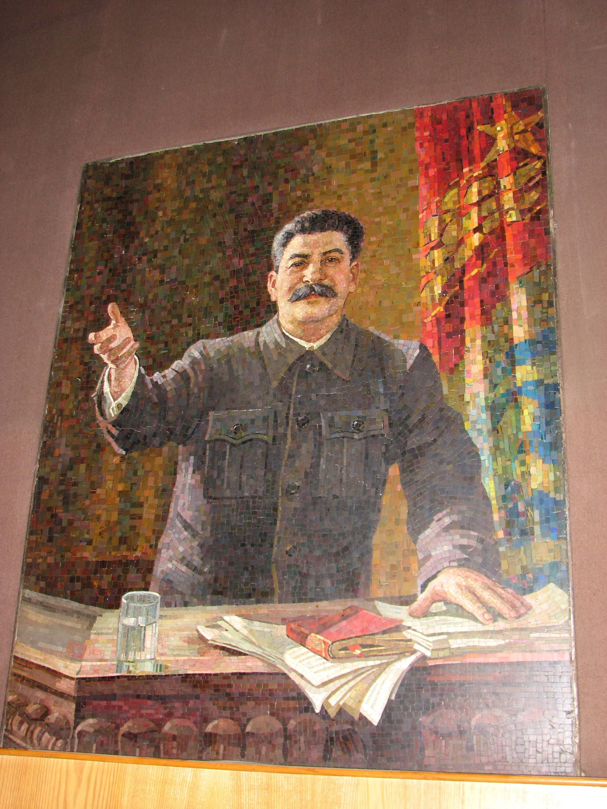 Mosaic of Stalin in the Josef Stalin Museum Gori - Georgia
