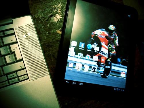 My touchpad running ICS