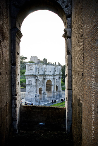 Arch of Constantine viewed from the Colosseum