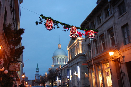 old montreal lit for Christmas