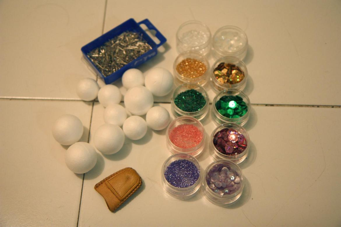 DIY xmas balls decoration