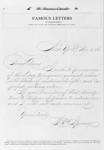 Letter from Lyman Spencer