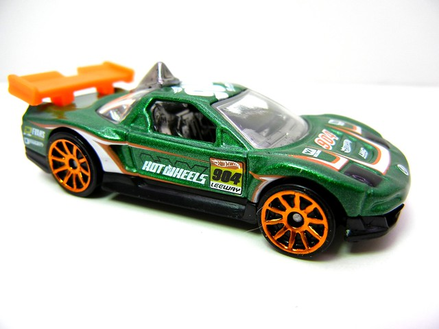 hot wheels acura nsx green (2)