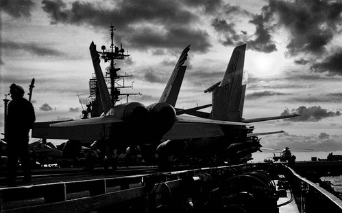 F/A-18 on Flight Deck