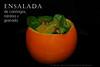 Ensalada de canónigos, naranja y granada