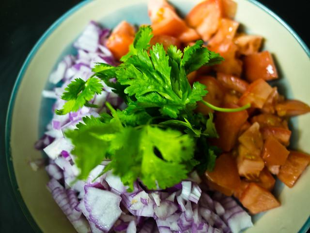 Onions, Tomatoes and Cilantro
