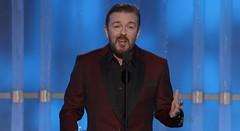 Ricky Gervais hosting 2012 Golden Globes