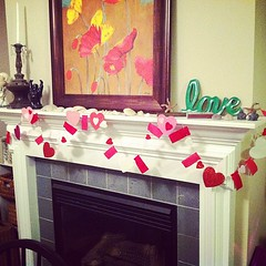 Heart garland. #lovelove