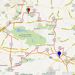 15. Bike Route Map. Etra Lake Park, Hightstown, NJ