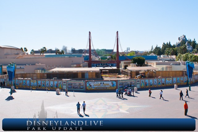 California Adventure Entrance Construction