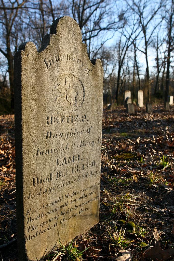 Lamb, Hettie P, b. 1875, d. 13 Oct 1880, d/o James J. & Mary A Lamb