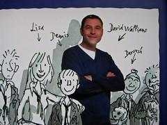 David Walliams, Campione in gonnella (The Boy in the Dress), Giunti 2011. Illustrazioni di Quentin Blake, progetto grafico di Simonetta Zuddas. q. di cop. (part.), 3