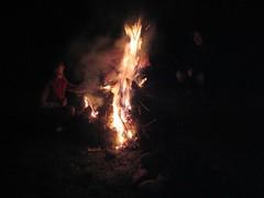 Alba tends the fire