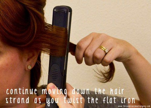 twist as you pull the hair through