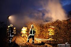 Feuer Abrissgebäude Bahnhof Kastel 04.12.11