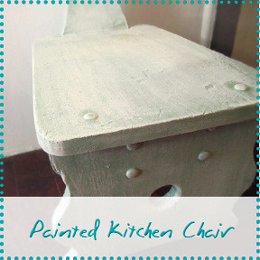 painted kitchen chair