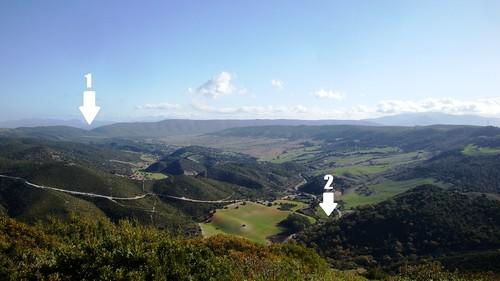 La Sierra de Cádiz desde el Cerro de la Cruz (San José del Valle)