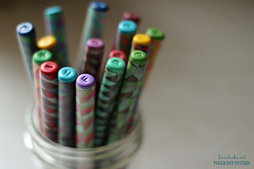 Polymer clay covered crochet hooks