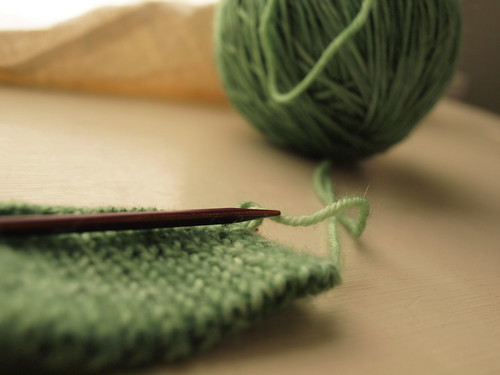 knitting :: Positivity Project Day 18
