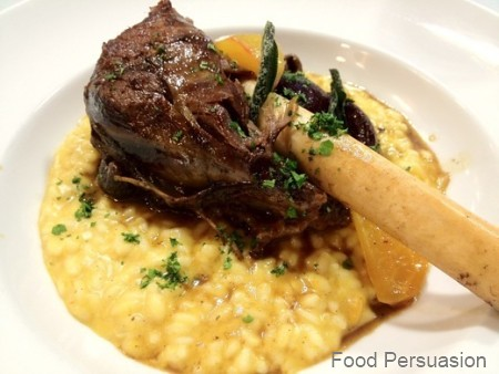 Braised lamb butternut squash risotto