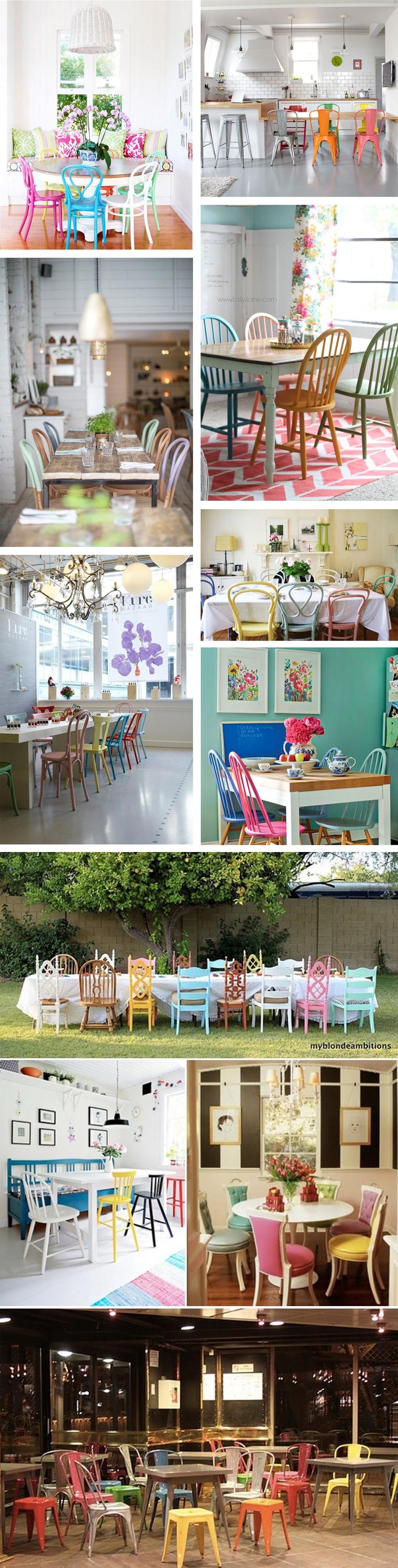 Gekleurde stoelen | Foreverpetite.net