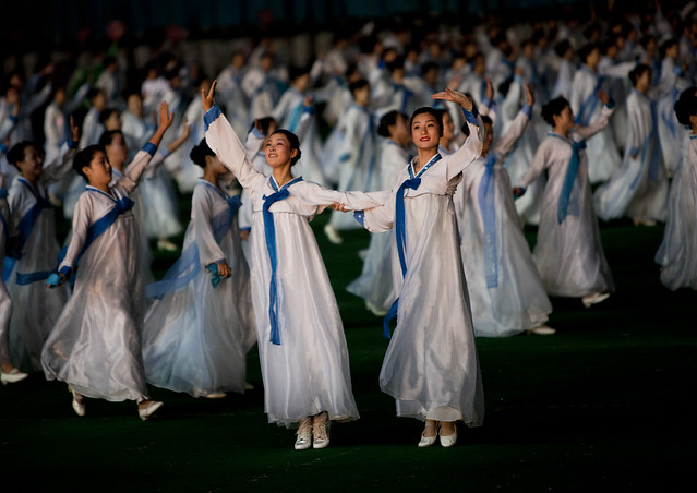Arirang mass games in Pyongyang - North Korea