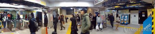 Panorama photos at Asakusa hagoitaichi market.