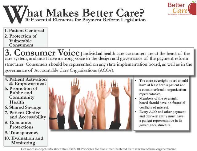 Better Care Principle 3: Consumer Voice