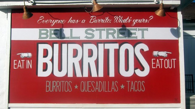 bell street burritos signage