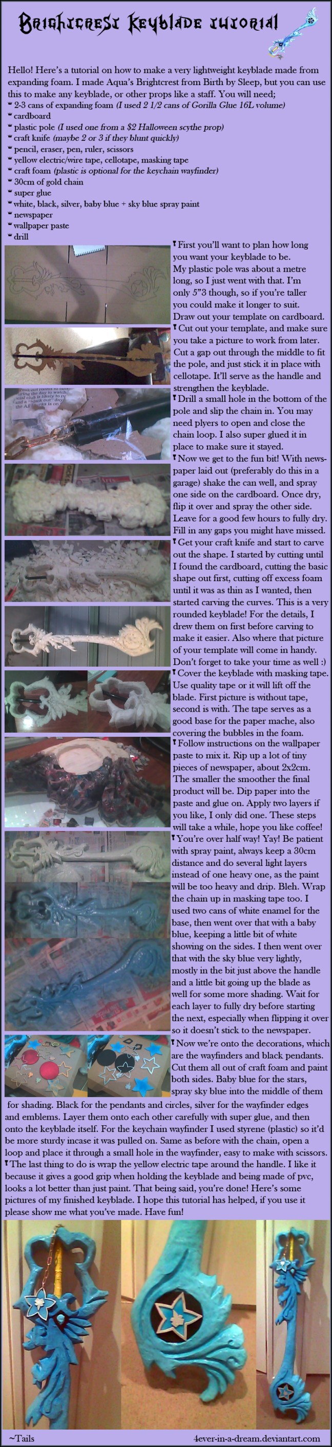 How to Make Kingdom Hearts Brightcrest Keyblade